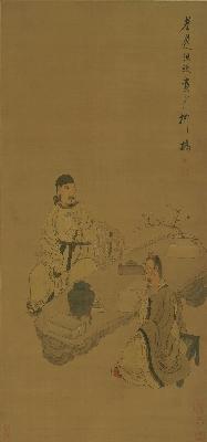 (玄)明 陈洪绶 人物图绢本118x55