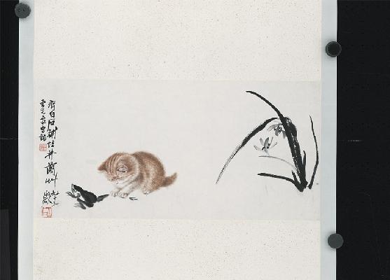 1141-齐白石-猫趣图