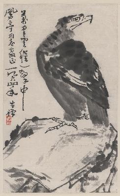 李苦禅 雄鹰图轴 50×82