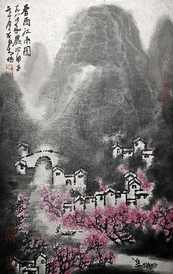 李可染-春雨江南图