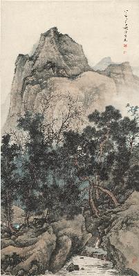 陈少梅 山水图 纸本55x109.2