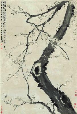 清 金农 墨梅图 纸本 93.5x138