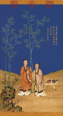 清 郎世宁 平安春信图(立轴)绢本126x68