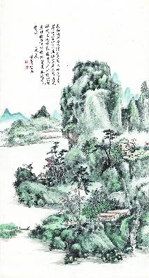 黄宾虹 山水图轴纸本149x80