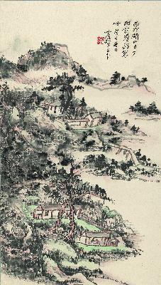 黄宾虹 西冷湖山图 纸本37x65.1