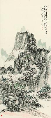 黄滨虹 山水二 250DPI 64x148
