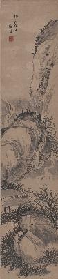 陈师曾-水墨山水图轴148X31