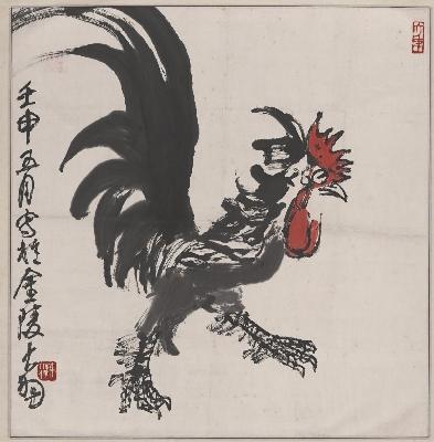 陈大羽-雄鸡图轴1