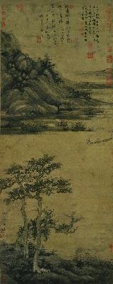 台039-洞庭渔隐图 元 吴镇