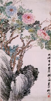 138-牡丹-清-赵之谦