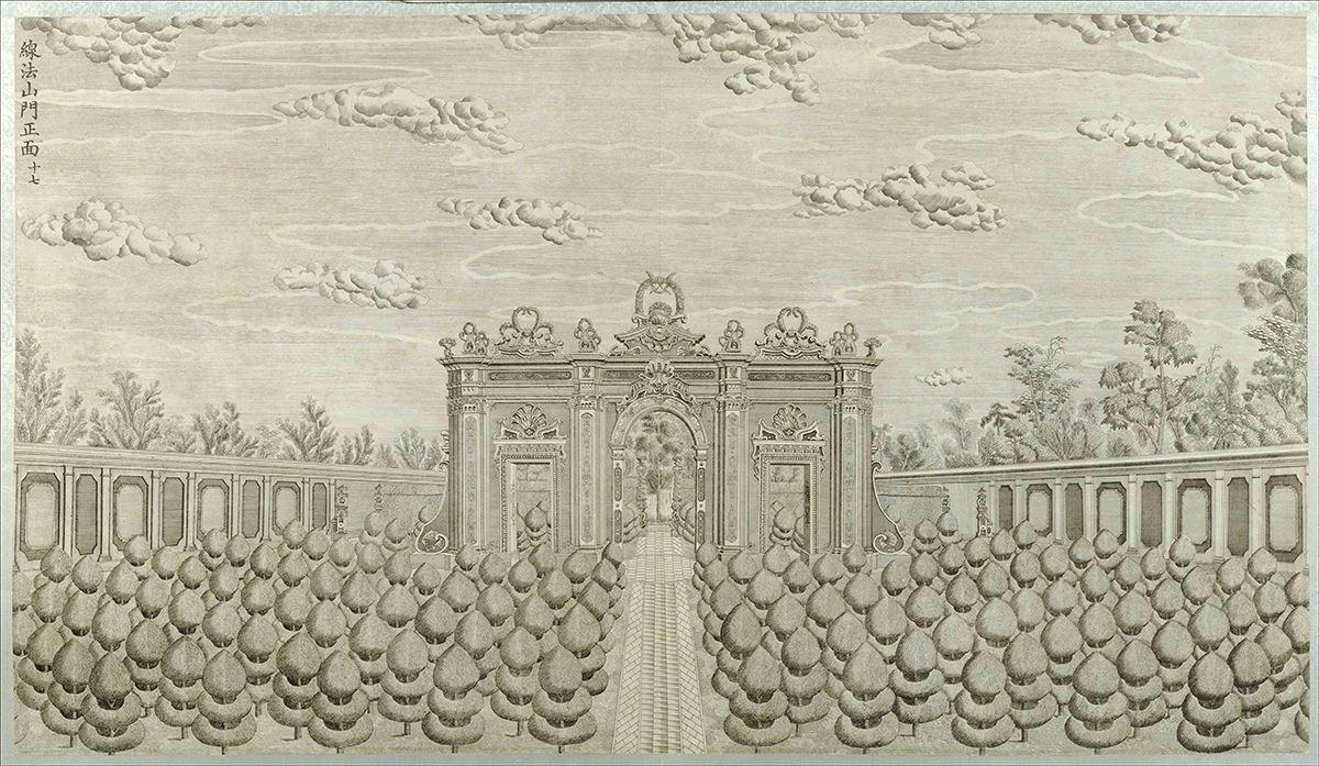 清 郎世宁 圆明园铜版画20张作品欣赏